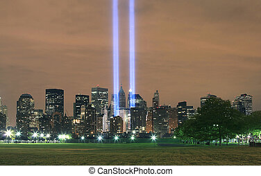 View of Ground Zero from New Jersey.