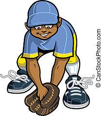 grounder, attraper, outfielder