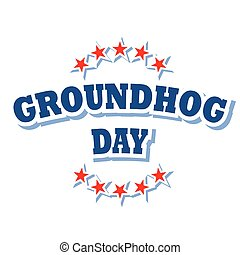 Groundhog Day logo symbol
