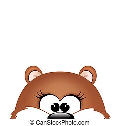 Groundhog day. Marmot on white background. Vector