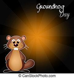 Groundhog Day - illustration of Groundhog Day