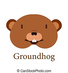 Groundhog Head Icon