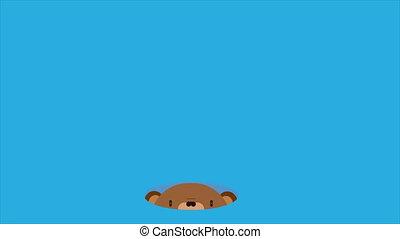 Groundhog on Groundhog Day, art video illustration.