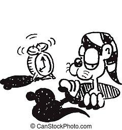 Groundhog With Alarm Clock
