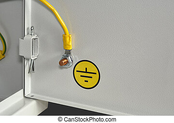 Grounding bolt. - Bolt for ground control cabinet, isolated...