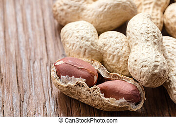 groundnut in the skin close-up