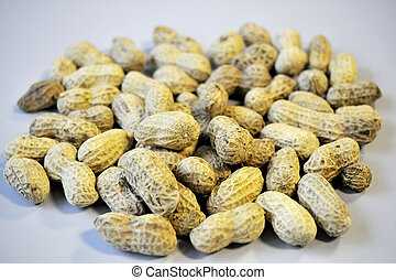 Groundnuts - Bunch of roasted groundnuts isolated on top of ...