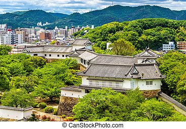 Grounds of Himeji Castle in Japan