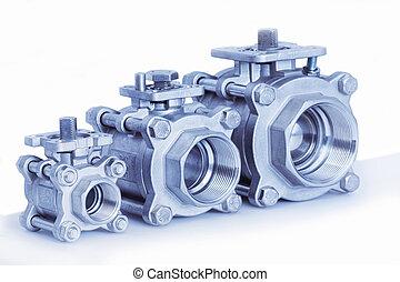 Group 3 valves, different sizes