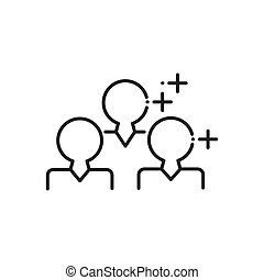 Group Advertisement, marketing icons