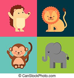 group animal cute icon