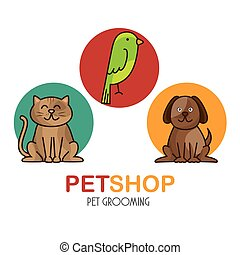 group animals pet shop