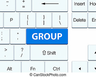Group blue keyboard button