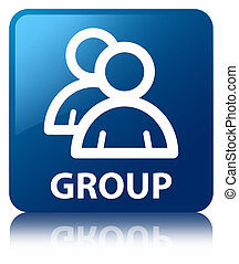 Group blue square button
