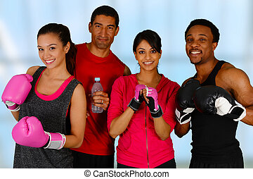 Group Boxing - Group of people in a boxing class