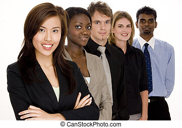 Group Business - A diverse group of individuals make this...