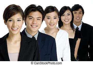 Group Business - A group of young attractive businesswomen...