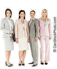 group businesswomen standing