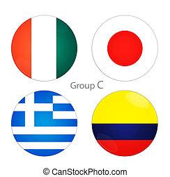 Group C- Ivory Coast, Japan, Greece, Colombia