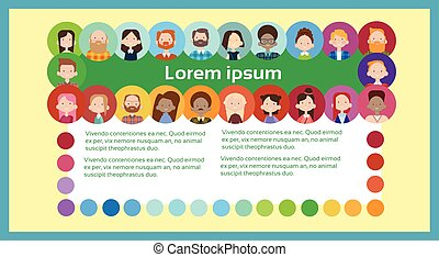 Group Casual People Big Crowd Diverse Ethnic Mix Race Banner