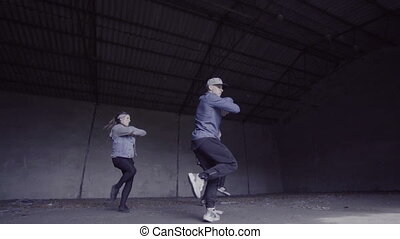 Group dancing in slow motion.