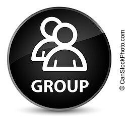 Group elegant black round button