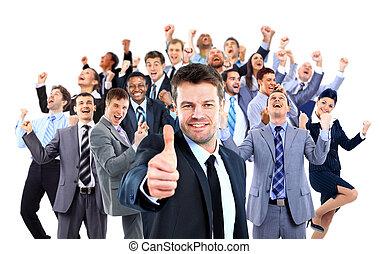 group., empresa / negocio, feliz