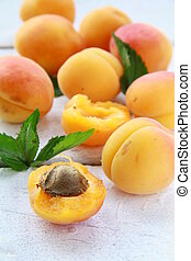 Group fruit apricot