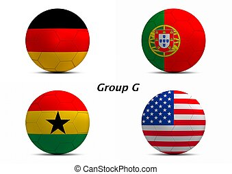 Group G, Germany, Portugal, Ghana, and USA - Group G final :...