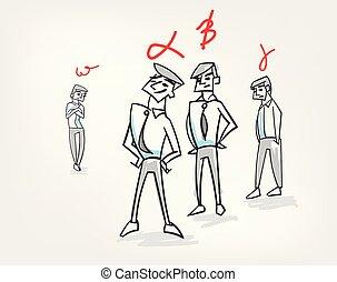 group hierarchy psychology concept teamwork vector illustration sketch doodle