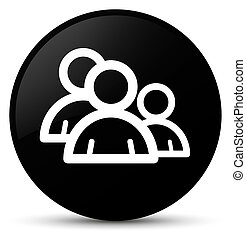 Group icon black round button