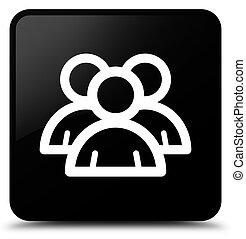 Group icon black square button