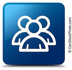 Group icon blue square button