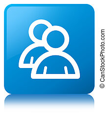 Group icon cyan blue square button
