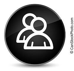 Group icon elegant black round button