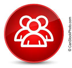 Group icon elegant red round button