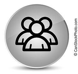 Group icon elegant white round button