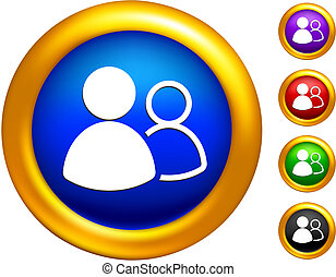 group icon on buttons with golden borders