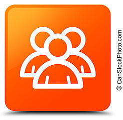 Group icon orange square button