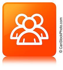 Group icon orange square button