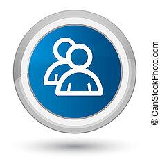 Group icon prime blue round button