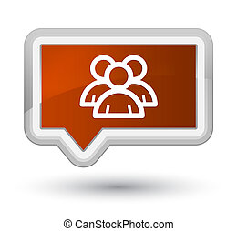 Group icon prime brown banner button