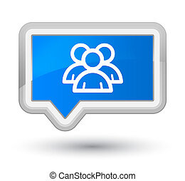 Group icon prime cyan blue banner button