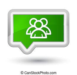 Group icon prime green banner button