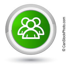 Group icon prime green round button