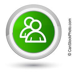 Group icon prime green round button