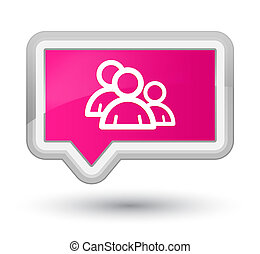 Group icon prime pink banner button