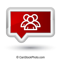 Group icon prime red banner button