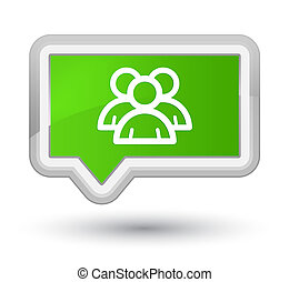 Group icon prime soft green banner button
