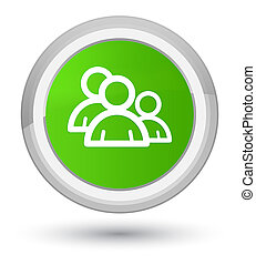 Group icon prime soft green round button